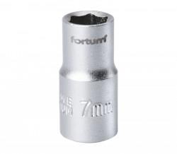 """7 mm hlavice nástrčná FORTUM 1/4"""""""