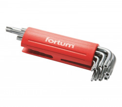 FORTUM 4710200 imbusy TORX T10-50 9ks s otvorem