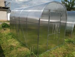 DNÌPR 2,10x4m PC 4mm skleník 8,4m2 + DÁRKY