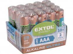 Baterie AA tužkové LR6 1,5V alkalické 20ks EXTOL
