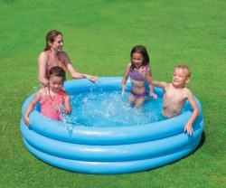 CRYSTAL 3 komorový 147x33cm Bazén nafukovací dětský