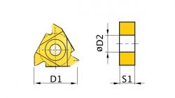 Břitové destičky AR 60° 5ks 16ERAG60