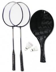 Badmintonová sada 2x raketa, 3x míček, pouzdro SEDCO 3555