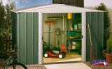 DRESDEN 1010 zahradní domek zelený 313x297cm