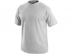 Tričko DANIEL krátký rukáv, bavlna, světlé šedý melír