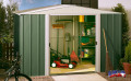DRESDEN 1012 zahradní domek zelený 313x370cm