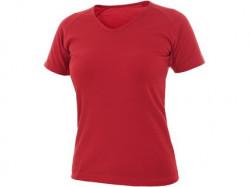 Tričko ELLA, dámské, krátký rukáv, červené