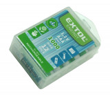 Baterie AAA mikrotužková HR03 nabíjecí 1,2V 1000mAh NiMh 12ks EXTOL
