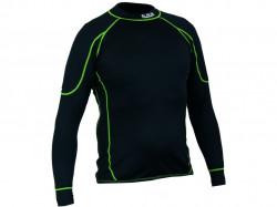 Pánské funkèní trièko REWARD, dl. rukáv èerno-zelené