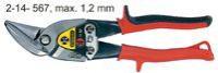 Nůžky na plech levé vyhnuté STANLEY MaxSteel Aviation 2-14-567