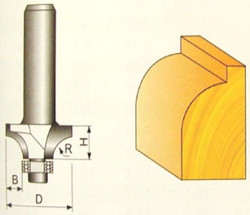 Fréza tvarová 11,1x11,1x16mm s ložiskem P70707