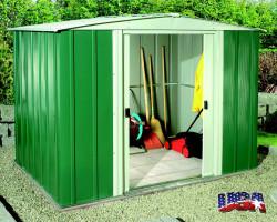 DRESDEN 86 zahradní domek zelený 253x181cm