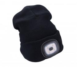 Èepice s èelovkou èerná, nabíjecí, USB, UNI velikost 43199