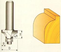 Fréza tvarová 9,52x9,52x16mm s ložiskem P70706
