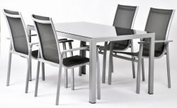 AURELIA 4+ zahradní sestava stùl Ryan + 4x židle Valentina