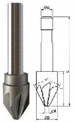 Záhlubník 60x8 mm kuželový 221627