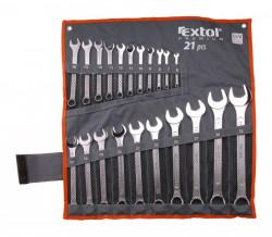 6-32mm EXTOL PREMIUM 6335 klíče očkoploché 21ks