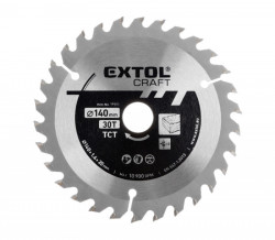140x1,4x20mm 30zubù Pilový kotouè EXTOL Craft
