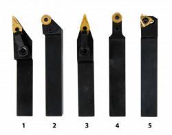 Soustružnické nože HM 16 mm s výměnnými destičkami 5ks
