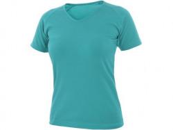 Tričko ELLA dámské, krátký rukáv tyrkysové