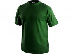 Tričko DANIEL krátký rukáv, bavlna, lahvově zelené
