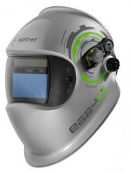 OPTREL e684 stříbrná samostmívací svářecí kukla