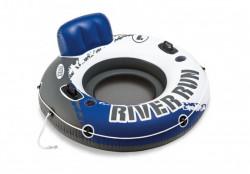 Kruh plavecký RIVER průměr 135cm modro/bílý