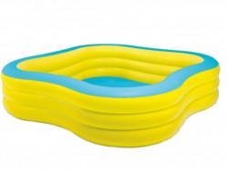 ČTVEREC 229x229x56cm bazén nafukovací žluto-modrý