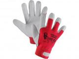Kombinované rukavice TECHNIK, èerveno-bílé